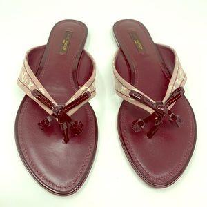 Louis Vuitton Denim Flip Flops!